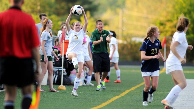 Kaley Cross (3) and Reynolds are home for Wednesday's third round of the NCHSAA 3-A soccer playoffs.