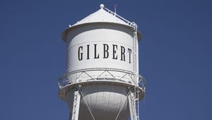 The Gilbert water tower.