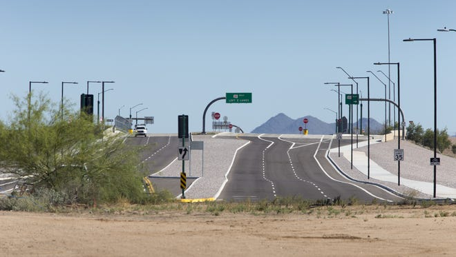 The Loop 101 and 64th Street, May 28, 2015, from the south looking north.