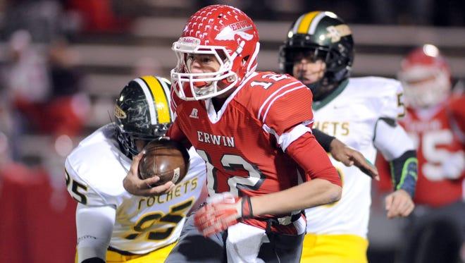 Erwin rising junior Damien Ferguson was an All-WNC quarterback in 2014.