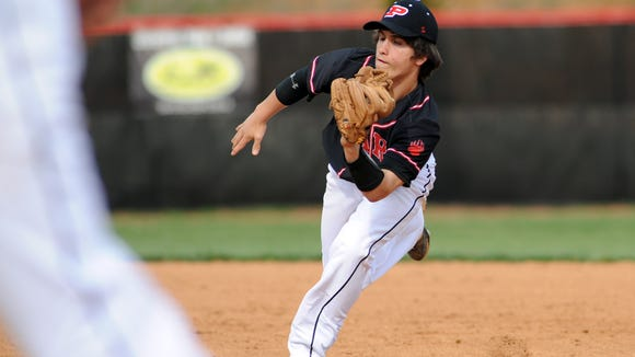 Pisgah's Christian Jones gloves a ball last season for the Black Bears.
