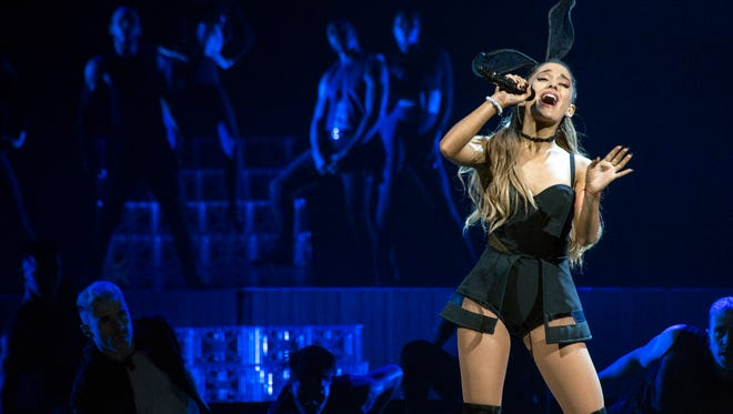 The showmanship of former Broadway star Ariana Grande was on full display during her Honeymoon Tour at the KFC YUM! Center on Thursday night. 7/23/15