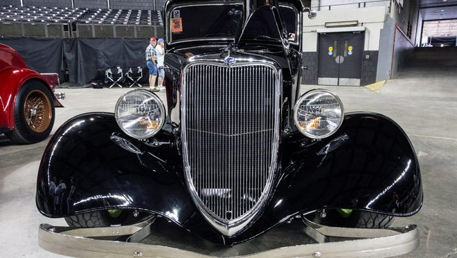 A 1934 Ford Henry Car owned by D. Lee Morrow of Ontario, Canada was one of the award-winning cars on display in Freedom Hall Sunday during the last day of the 46th Annual Street Rod Nationals. 8/9/15