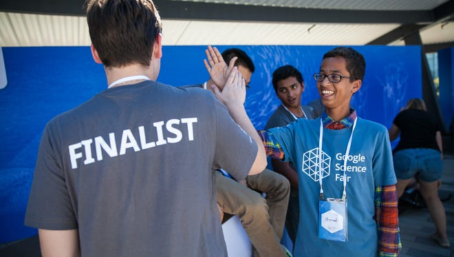 Ahmed Mohamed was the surprise guest at the Google Science Fair on Monday.