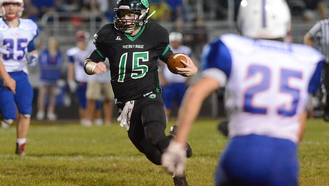 Trey Robinson and Mountain Heritage are 5-2 after Friday's 26-25 win over Polk County in Weaverville.