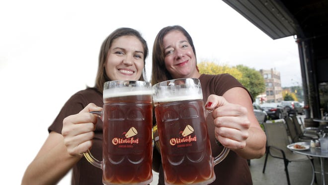 The Asheville Downtown Association Oktoberfest is 1-6 p.m. Saturday at a new location on Woodfin Street.