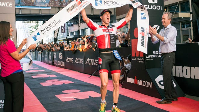 James Burke of Whitefish Bay, WI won the Louisville Ironman on Sunday with an overall time of 8:48:53. 10/11/15