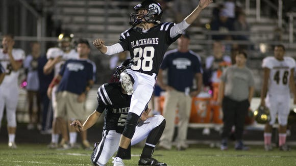 North Buncombe senior Tommy Apostolopoulos has made 12 field goals this season.
