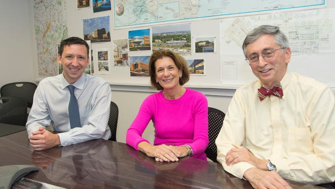 Newly-merged Anchor Health Properties' management team. (l to r) CEO Ben Ochs, Chairwoman Paula Crowley and President Lou Sachs.