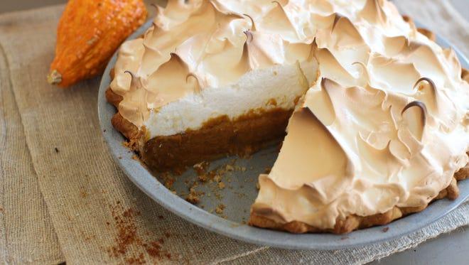 Citrus pumpkin meringue pie is possible despite a shortage in pumpkins after heavy rains took out crops.