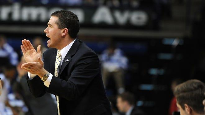 UNC Asheville coach  Nick McDevitt.
