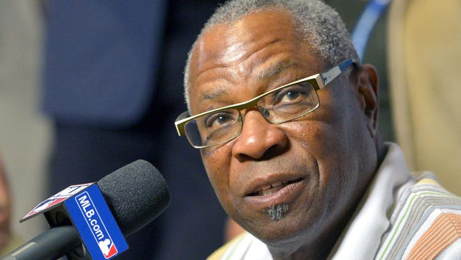 Washington Nationals manager Dusty Baker speaks with the media during the MLB Winter Meetings at Gaylord Opryland Resort.