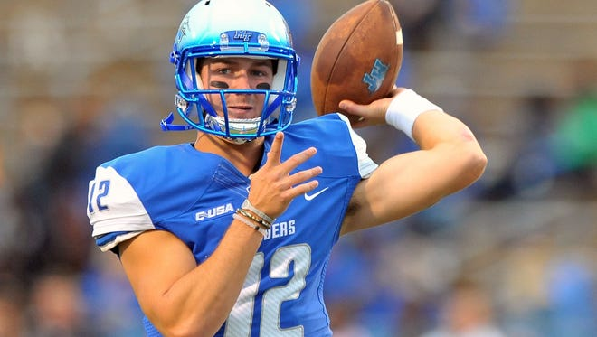 MTSU quarterback Brent Stockstill enters his second season as the starter.