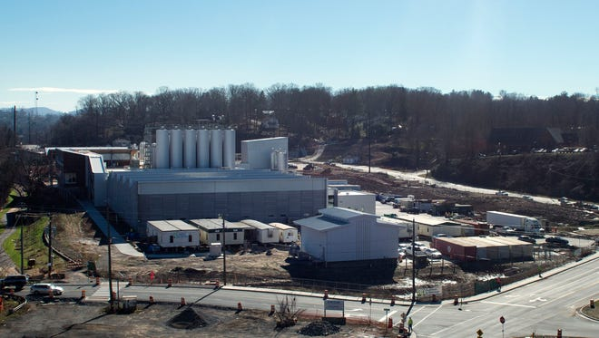 The New Belgium brewery under construction next to the French Broad River in Asheville Thursday Jan. 7, 2016.