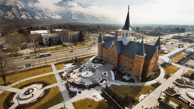 Provo City Temple  in Provo, Utah, is seen Monday, Jan. 11, 2016. The Mormon Church is set to begin giving public tours of the religion's newest temple. Church officials will be giving a media tour of the temple on Monday, Jan. 11, 2016, with public tours set to begin later this month. The temple dedication is set for March 20.
