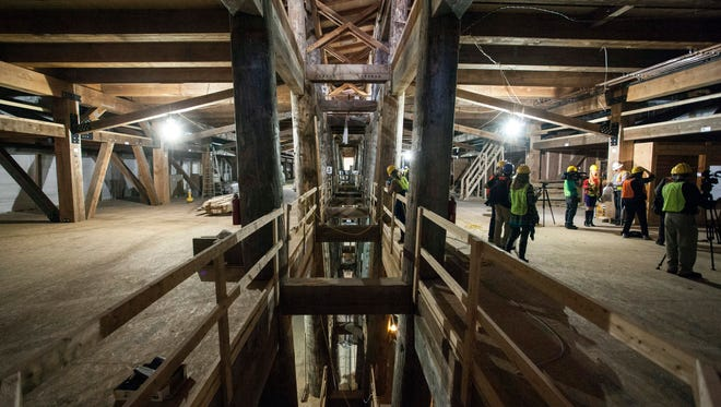 3.1 million feet of timber was used to build the sailing vessel at the heart of the Ark Encounter in Williamstown, Ky.