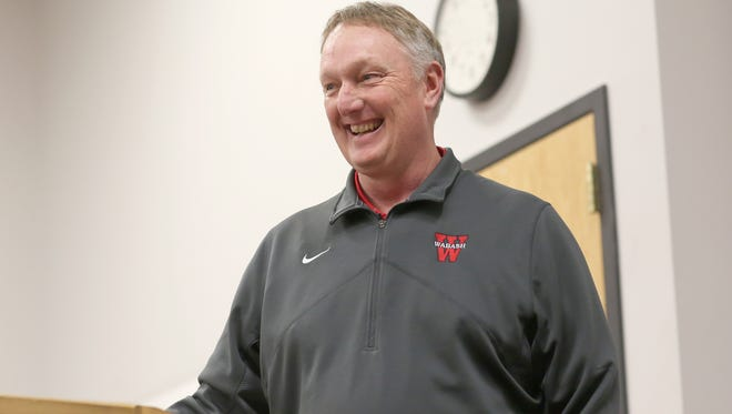 New Wabash College football coach Don Morel was introduced at a press conference Monday in Crawfordsville.
