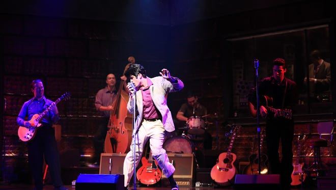 "The king of rock and roll shakes his hips in ""Million Dollar Quartet."""
