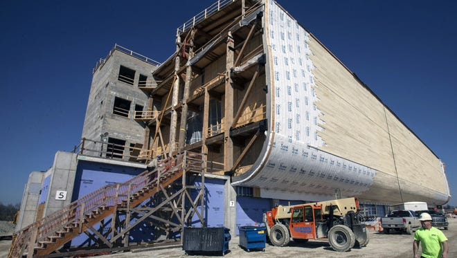 Marty Pearl/Special to The Courier-Journal The Ark Encounter in Williamstown is nearing the completion of the construction phase with an opening date of July 7. The Ark Encounter in Williamstown is nearing the completion of the construction phase with an opening date of July 7, 2016.