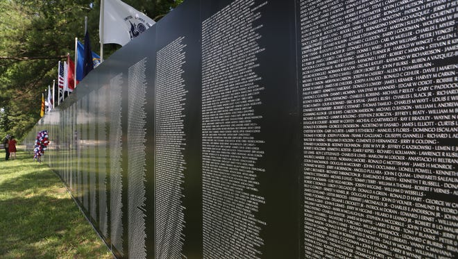 The traveling Vietnam Wall is spending Memorial Day weekend at the Nashville National Cemetery in Madison.
