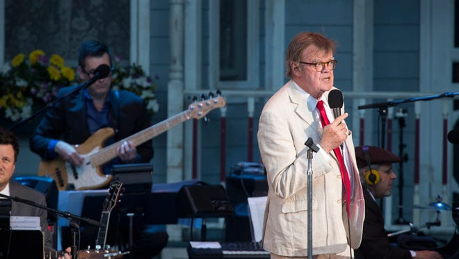 Garrison Keillor during the taping of his final show for 'A Prairie Home Companion' on July 1, 2016.