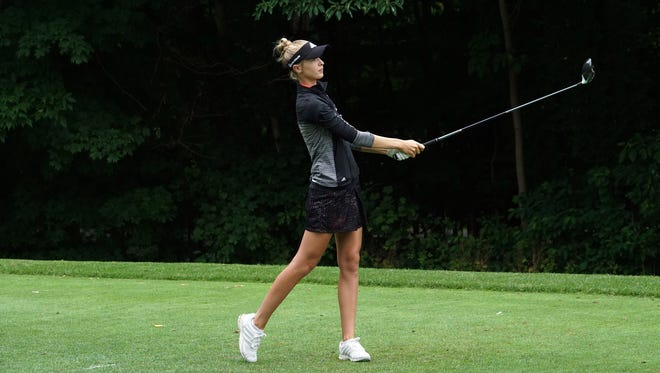 Nelly Korda, the 17-year-old whose father was a former pro tennis star and sister is a rising LPGA star, is playing in this week's Danielle Downey Credit Union Classic Symetra Tour event at Brook-Lea Country Club.