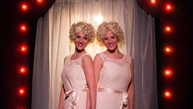"""Sisters Nicole and Ashley Dziurzynski star in the Belmont Theatre musical production """"Side Show."""" The duo play conjoined twins based on the real-life Hilton sisters, who performed in the vaudeville circuit  during the early 20th century."""