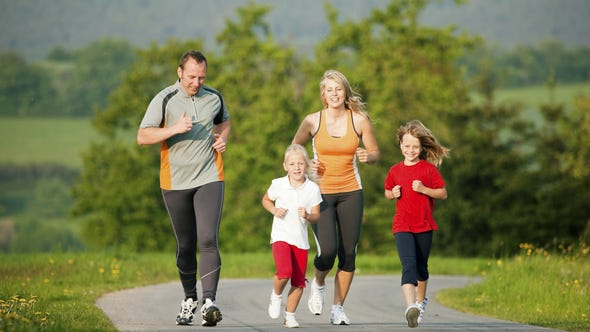 The body releases endorphins, or happy hormones, during