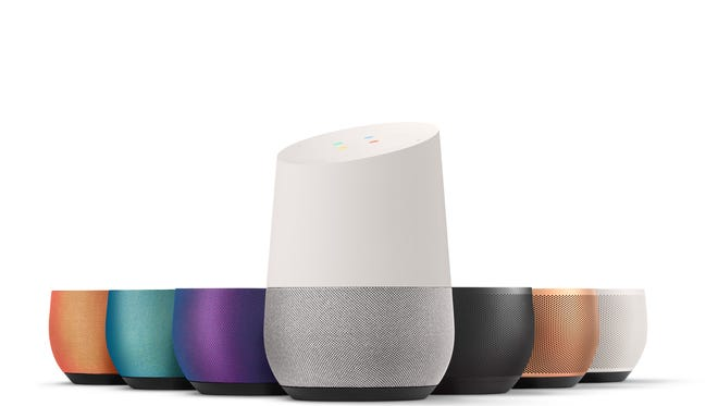 Google Home has removable base accessories.