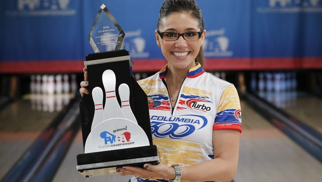 Clara Guerrero won the Professional Women's Bowling Association Players Championship at Ashwaubenon Bowling Alley in June. It was the Colombia native's first PWBA title.