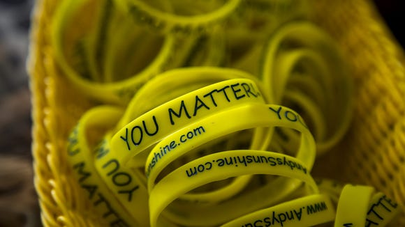 """You Matter"" wristbands in the north Phoenix home of"