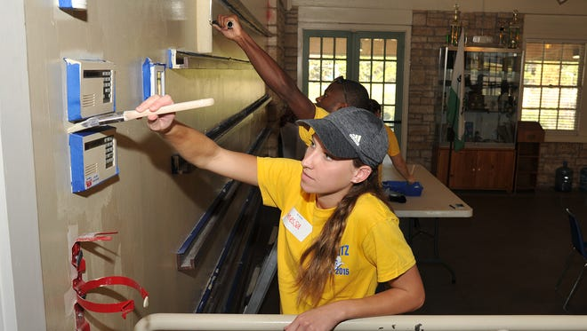 Many ASU student organizations participate in Ram Blitz, a city-wide service initiative that encourages students to volunteer and be involved in the community.