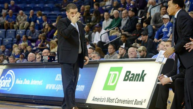 UNC Asheville coach Nick McDevitt during a game earlier this season.