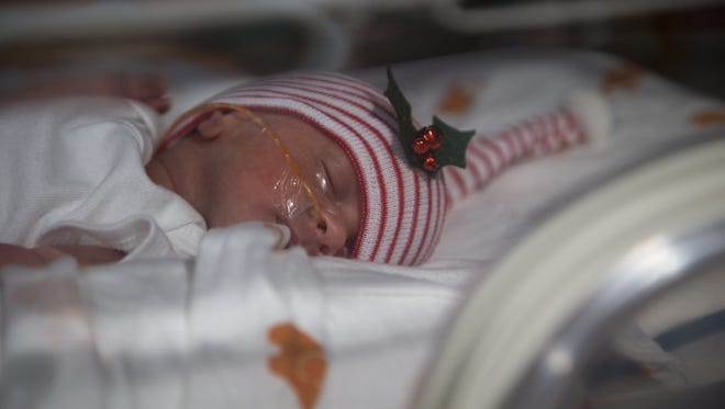 Isabelle Baudinet, Dec. 21, 2016, in the St. Joseph's Nursery Intensive Care Unit.