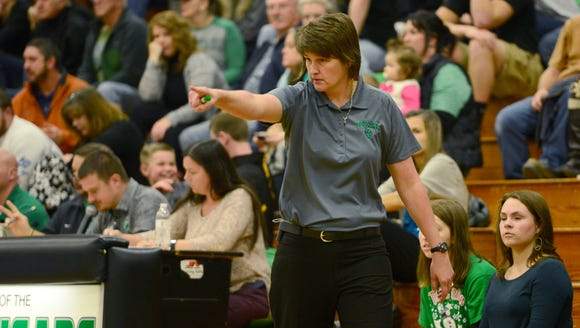 Mountain Heritage girls basketball coach Susie Shelton.