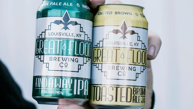 Great Flood Brewing Company now offers canned versions of their Pale Ale and Toasted Brown flavors. 1/21/17