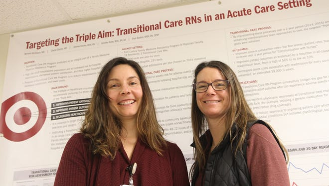 FMC transitional care RNs, Andrea Hooley, left, and Jennifer Nolte.