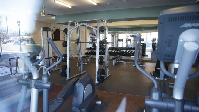 Resident exercise room at the Depot at Nickel Plate, 8594 E 116th St., Fishers, Ind., Feb. 9, 2017.