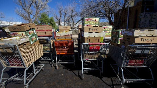 Borderlands Food Bank in Nogales, Arizona, rescues fresh produce before it goes to the landfills. Most of the time the reason the produce won't sell is because of cosmetic damages such as rain stains and discoloration.