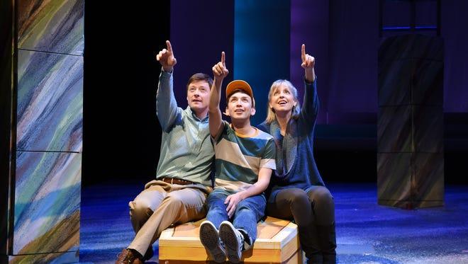 "Childsplay's revival of ""The Yellow Boat"" stars (from left) Kyle Sorrell, Rudy Ramirez and Katie McFadzen."