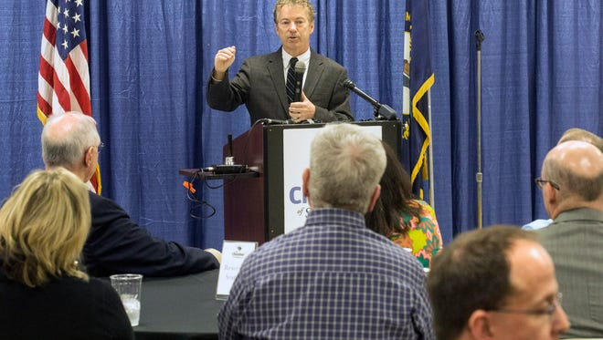 Senator Rand Paul spoke to a group gathered in the St. Matthews Community Center on Monday about the process of overhauling the Affordable Care Act. 3/20/17