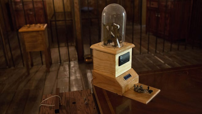 Cluenundrum, an escape room located on South Valley Drive is a chance to get a group together and use your wits to solve multiple puzzles. Pictured, a telegraph machine one of the many devices in the escape room at cluenundrum that helps vistors solve puzzles to get out of the escape room.