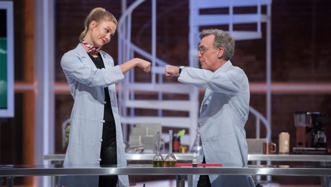 "Bill Nye (you know, the science guy) hosts a talk show on Netflix, ""Bill Nye Saves the World."""