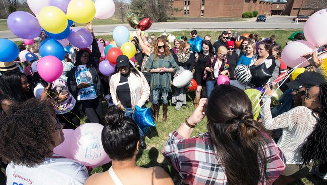 Ballard High was the site on Saturday of a memorial balloon release for recent gunshot victim Savannah Walker. March 25, 2017