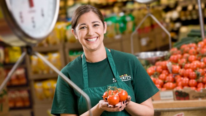 A shot of Sprouts Farmers Market produce department.