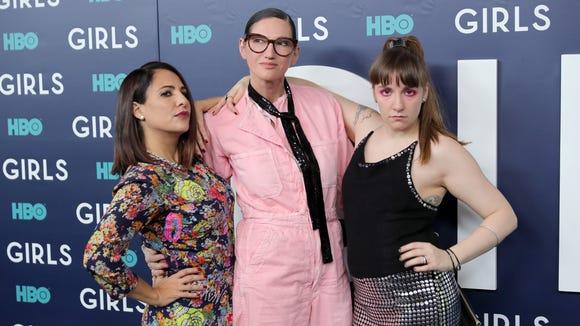 Jenna Lyons posed with Jenni Konner and Lena Dunham