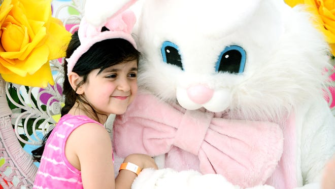 Crossroads Center offers a chance Monday for not just people but their pets to meet the Easter Bunny between 11 a.m. and 8 p.m. Tickets are required.