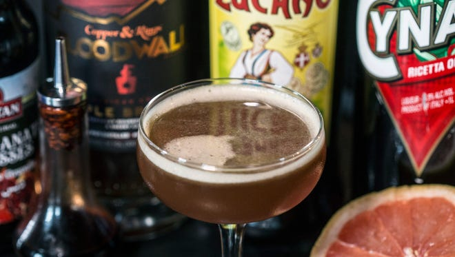 An apple brandy and various Italian liqueurs give the Thurby cocktail at Butchertown Grocery its flavor. 4/21/17