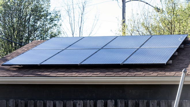 Solar panels are starting to pop up around the neighborhood of Deer Park in the Highlands as residents become more eco-friendly. 4/7/17