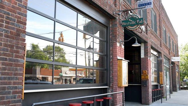 Westville Pub on Haywood Road in West Asheville.